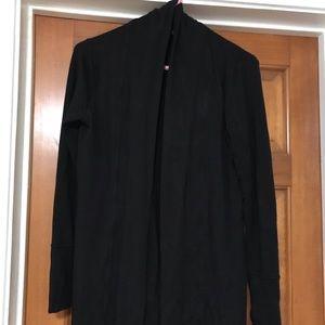 Black long sleeve sweater cardigan
